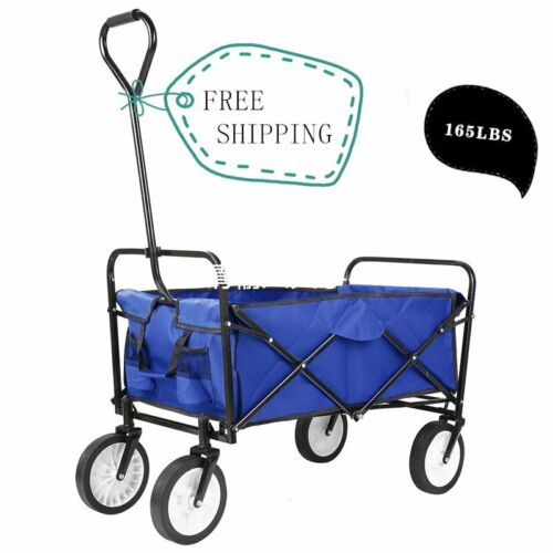 Collapsible Wagon Portable Rolling Heavy Duty 165lbs Capacit