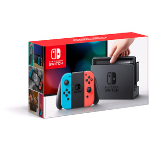 Nintendo Switch Neon color Joy Con with NEW Pro controller