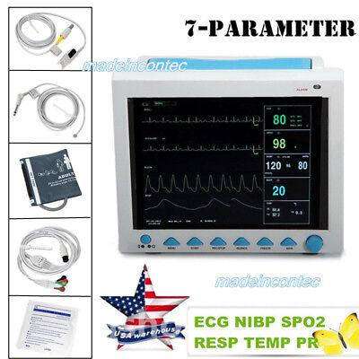 Portable Multi-parameter Vital Signs Patient Monitorspo2precgnibpresptemp