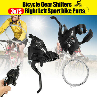 21Speed 3x7 US Seller Shifter Brake Lever Combo SET Mountain Bike Shifters