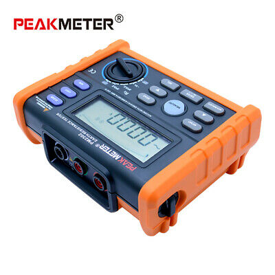 Peakmeter Ms2302 Digital Earth Resistance Tester 0 Ohm - 4000 Ohm Lcd Display