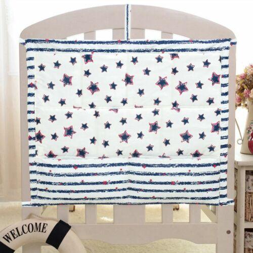 Baby Cot Bed Hanging Storage Bag Crib Organizer Storage Bag Toy Diaper Pocket