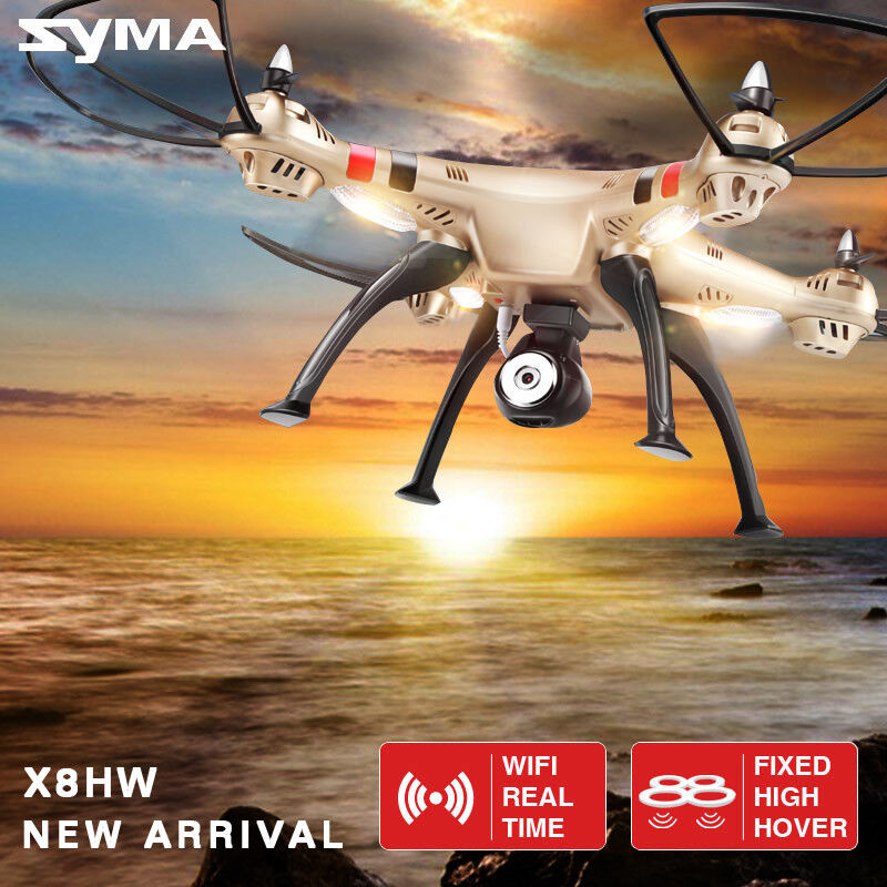 Syma X8HW 4CH WIFI FPV Gyro RC Quadcopter Drone 0.3MP HD Camera UAV RTF UFO