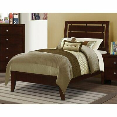 Bowery Hill Twin Panel Bed in Rich Merlot