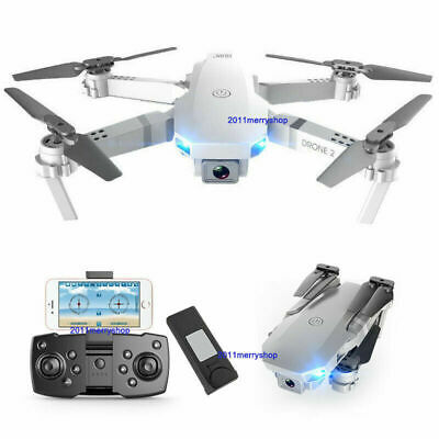 FPV Wifi 4K HD Camera Drone Foldable Aircraft RC Quadcopter Wide Angle HD Selfie