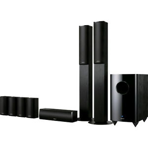 Onkyo THX 7.1 surround speakers with powered subwoofer. Mint con