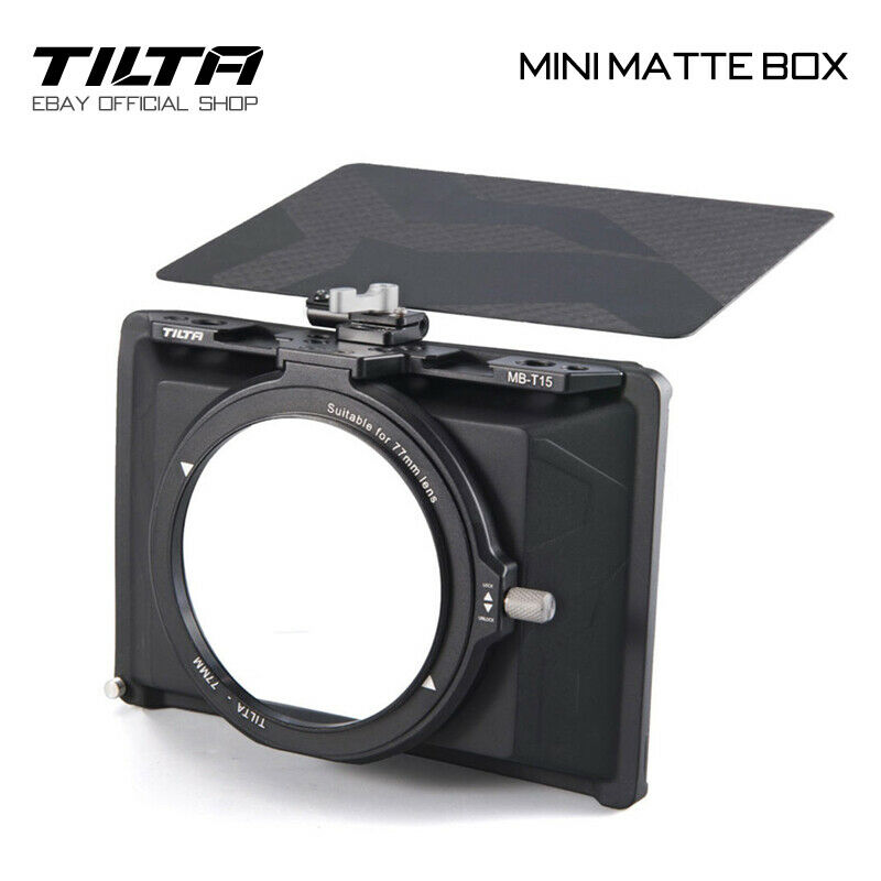 Tilta Clamp-on Matte Box Lens Hood MB-T15 Mini Matte Box For DSLR Mirrorless Cam