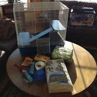 Large hamster / rat cage set up