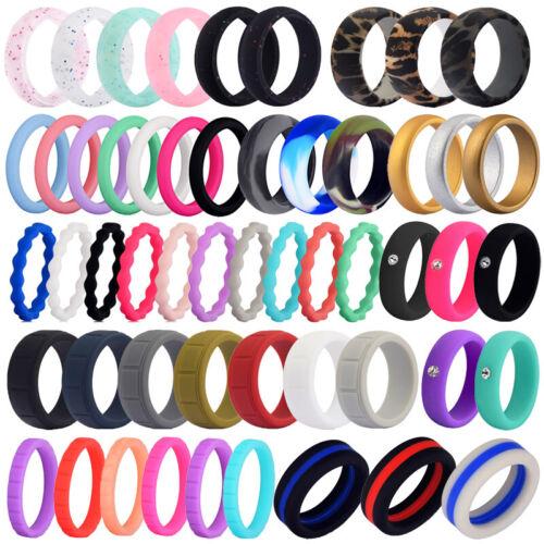 Medical Grade Silicone Wedding Ring Men Women Flexible Rubbe