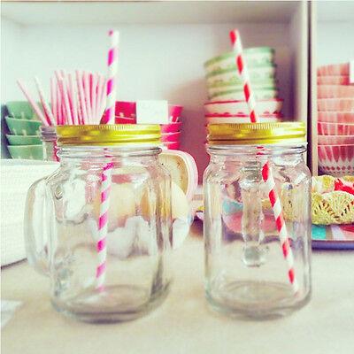2x Mason Jar Gläser mit Deckel Trinkglas Cocktail Glas Bowle Glas Set