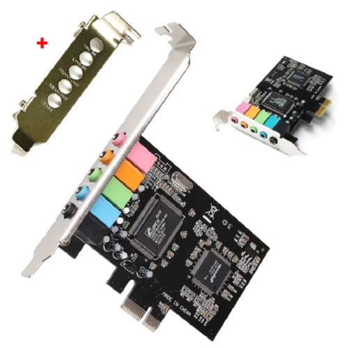 Universal PCI-e 5.1 Channels Sound Stereo Audio Card With CD