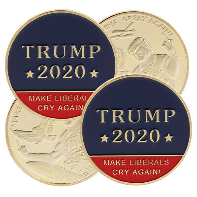 US 45th President Donald Trump 2020 Challenge Coin Make Liberals Cry Again w7