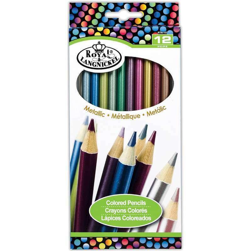 Metallic Colored Pencils 12/Pkg 090672358783