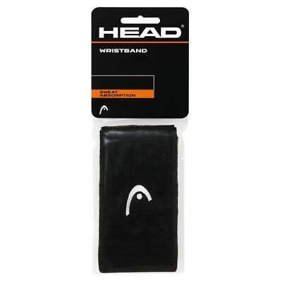 2- Head WRISTBAND - Schweißbänder Fb. schwarz für Tennis + Freizeit Sport :NEU: