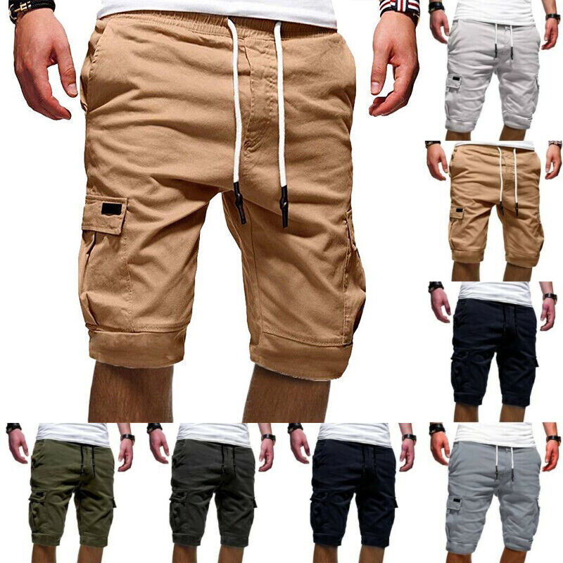 Men Cargo Shorts Sports Army Combat Trousers Beach Straight Joggers Sweatpants Clothing, Shoes & Accessories