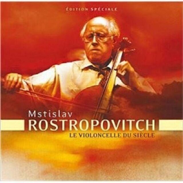 MSTISLAV ROSTROPOWITSCH - LE VIOLONCELLE DU SIECLE 3 CD KLASSIK CELLO NEU