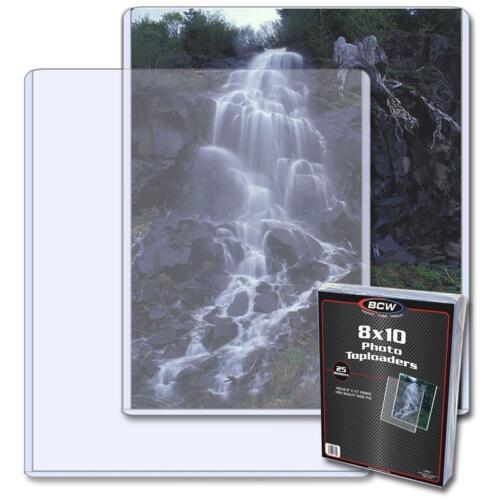 1 Pack of 25 BCW 8x10 Photo Topload Holder (Top loader/toploader)
