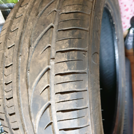 Nearly new used car tyre