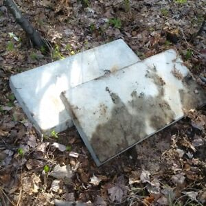 Two reinforced concrete pads $40