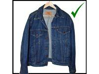 Jacket Vintage Denim 44R Levi's Trucker XL Levi Grade Men's Unisex 20506-0216
