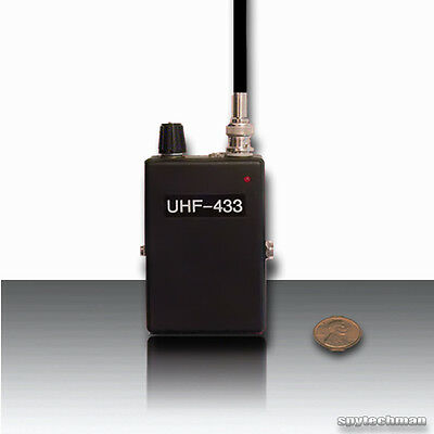 NEW!!  PLL NFM UHF RECEIVER V2 FOR BUGS SPY TRANSMITTERS TAPS DETACHABLE ANTENNA