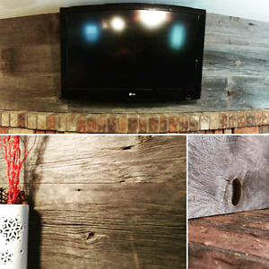 Reclaimed barn board feature wall accent wall