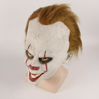 Pennywise Das Clown Es Maske Stephen Kings Clown Maske Party Cosplay Kostüm - Kostüm Weisse Maske