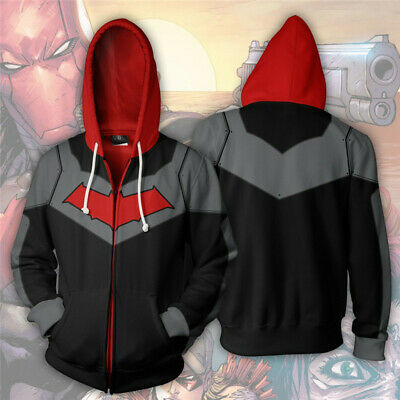 Petit Film Halloween (New DC Comics Batman Robin 3D Printed Hoodie Jacket Sweatshirt Cosplay)