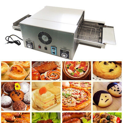 Commercial Pizza Oven Conveyor Electric 12 Belt 220v 6.4kw Rapid Cook