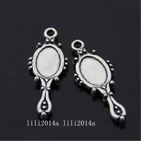 20pc Tibetan Silver Charms Cosmetic Mirror Pendant Beads Jewellery Making L1078 - unbranded - ebay.co.uk