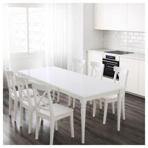 IKEA INGATORP TABLE & INGOLF CHAIRS