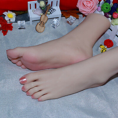 Rare With Jointed Silicone Female Legs Feet Big Foot Shoessocks Display Model