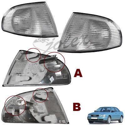 NEU Blinker Blinkleuchte weiß rechts+links Set Satz Paar Audi A4 94-99 1.Serie