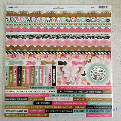 Kaisercraft 12x12 Sticker Sheet Collection Christmas theme 24 selections - All That Glitters