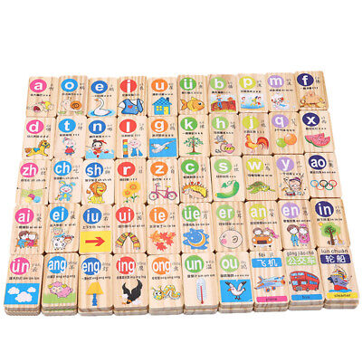 100pcs/Lot New Chinese Pinyin Digital Domino Toys Kids Learning Education Toy US - Chinese Toys