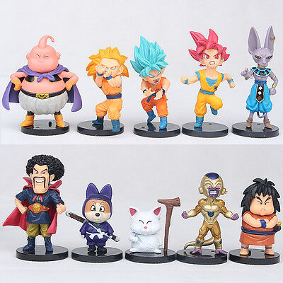 "10pcs Super Saiyan Toys Dragon Ball Z 4"" Mini Figures Collection Gift kids toys"