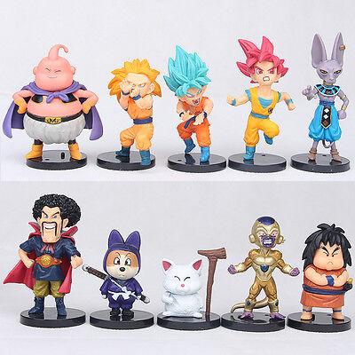 "Dragon Ball Z 4"" Mini Figures Lot of 10pcs Super Saiyan Toys Set Collection Gift"
