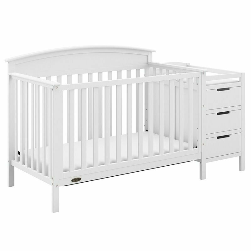 Graco Benton 5 in 1 Convertible Crib and Changer Set in White