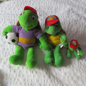 BENJAMIN LA TORTUE LOT 3 PELUCHES FRANKLIN