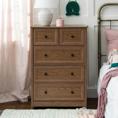 New 5 Drawer Grooved Dresser Walnut