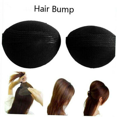 2x Women Bump It Up Volume Hair Base Styling Clip Stick Bun Maker Braid Tool new