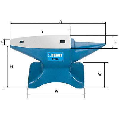 Yunque FERVI De 50 Kg. de Acero Endurecido C45 Profesional FERVI 0157/50