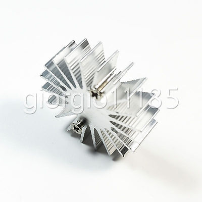 Us Stock 10x Od 35mm X H 10mm1w Watt Led Aluminium Heatsink Cooling Cooler Round