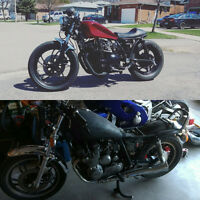 Bobbers and cafe racers