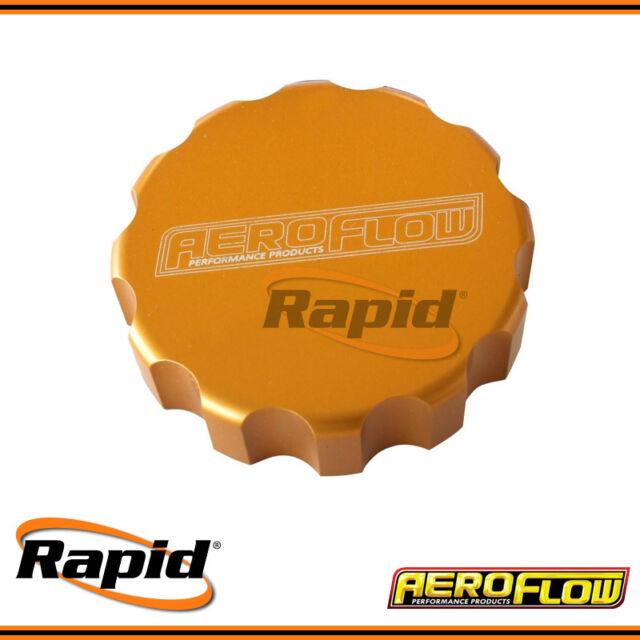 Aeroflow Large Gold Billet Radiator Cap Cover AF463-0042G