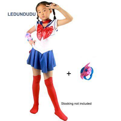 Super sailor moon costume usagi sailor jupiter Kids Girls Fancy venus Dress](Sailor Moon Costumes)
