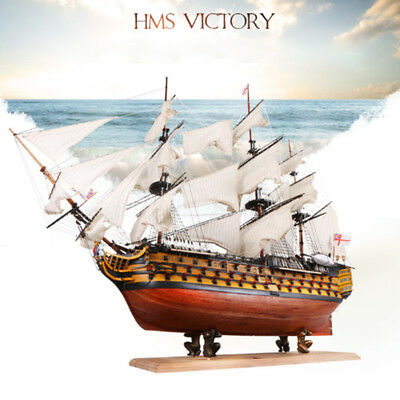 (HMS Victory 21'' Wooden Sailing Boat Model DIY Kit Ship Assembly Decoration Gift)