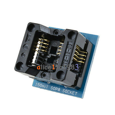 5pcs Soic8 Sop8 To Dip8 Ez Programmer Adapter Socket Converter Module 150mil Top