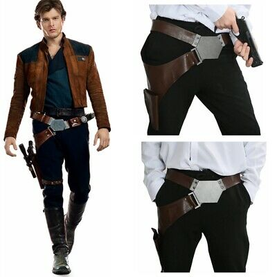 XCOSER Han Solo Buckle Belt Star Wars With Gun Holster Cosplay Costume Props New - Han Solo Costume Belt
