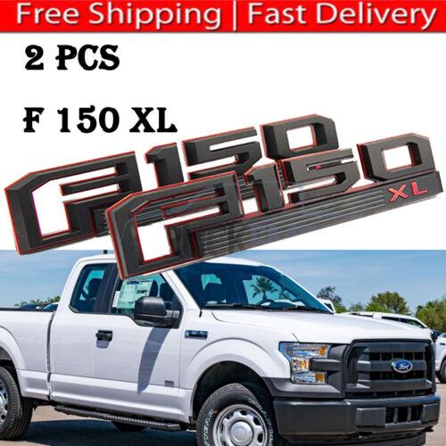 2015-2018 Ford F-150 XLT BLACK Tailgate Emblems 2 Piece Kit OEM NEW CUSTOM
